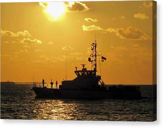 Coast Guard In Paradise - Key West Canvas Print
