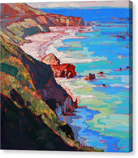 California Canvas Print - Coast Line by Erin Hanson
