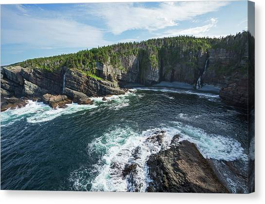Newfoundland And Labrador Canvas Print - Coast Southeast Of Pouch Cove  Killick by Carl Bruemmer