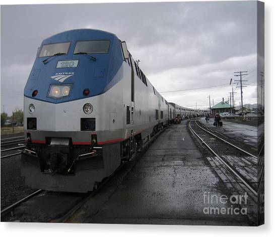 Coast Starlight At Klamath Falls Canvas Print by James B Toy