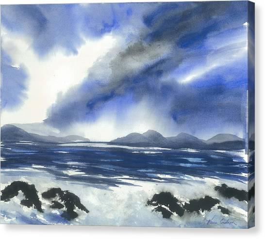Coast To Coast Canvas Print by Karen  Condron