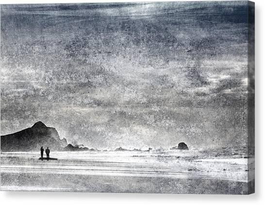 Walk Canvas Print - Coast Walk by Carol Leigh