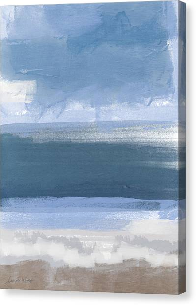 California Landscape Art Canvas Print - Coastal- Abstract Landscape Painting by Linda Woods