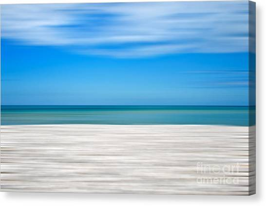 Abstract Seascape Canvas Print - Coastal Horizon 10 by Delphimages Photo Creations