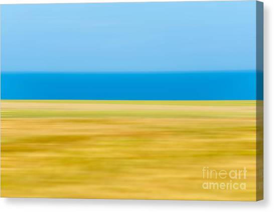 Abstract Seascape Canvas Print - Coastal Horizon 9 by Delphimages Photo Creations