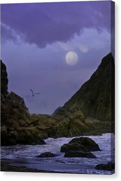 Coastal Moods Moonglo Canvas Print