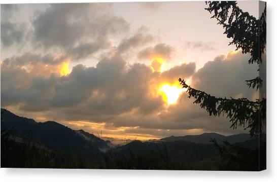 Coastal Mountain Sunrise II Canvas Print