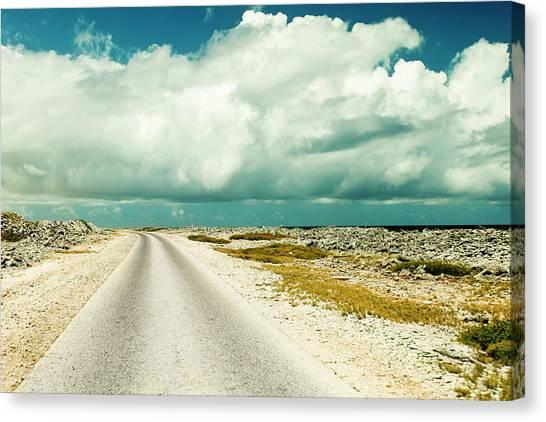Carribbean Canvas Print - Coastal Road Around Bonaire by James White
