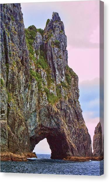 Coastal Rock Open Arch Canvas Print