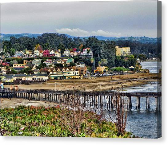 California Coastal Town Canvas Print