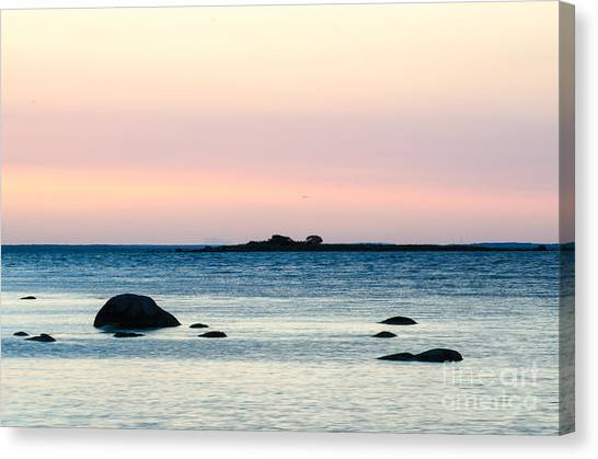 Rights Managed Images Canvas Print - Coastal Twilight View by Kennerth and Birgitta Kullman