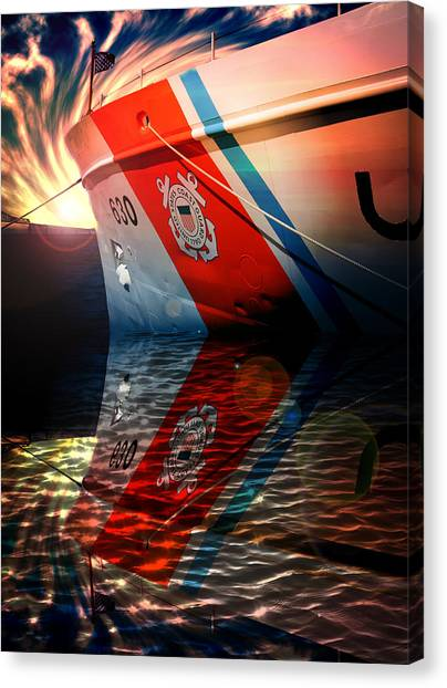 Coast Guard Canvas Print - Coast Guard Uscg Alert Wmec-630 by Aaron Berg