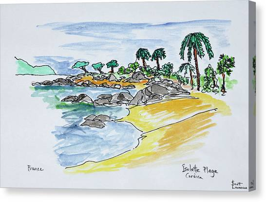 Scotty Canvas Print - Coastline Along Isolella Beach by Richard Lawrence