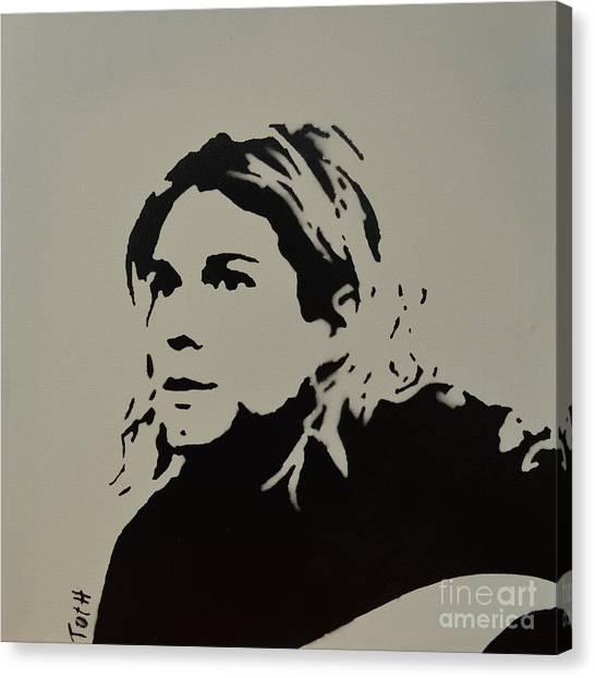 Cobain Spray Art Canvas Print