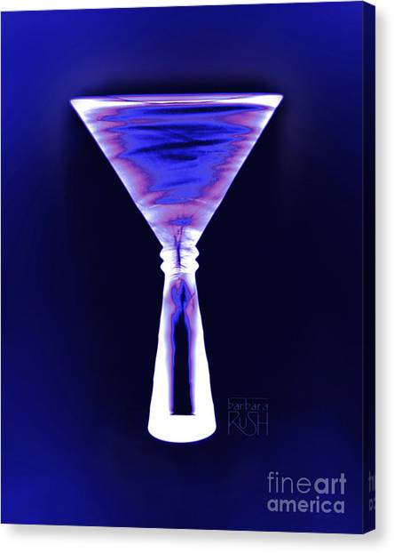 Cobalt With Purple Fringe Martini Canvas Print