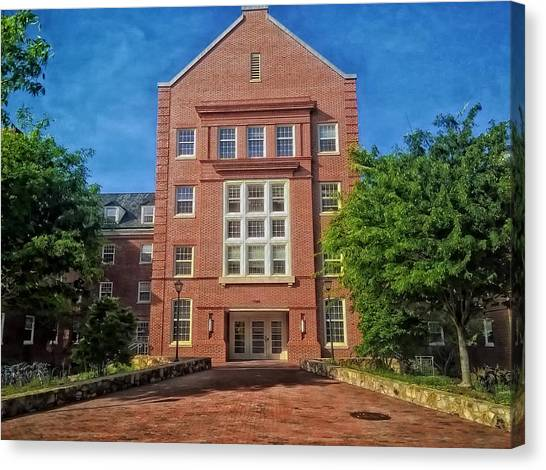 University Of North Carolina Chapel Hill Canvas Print - Cobb Residence Hall - University Of North Carolina by Mountain Dreams