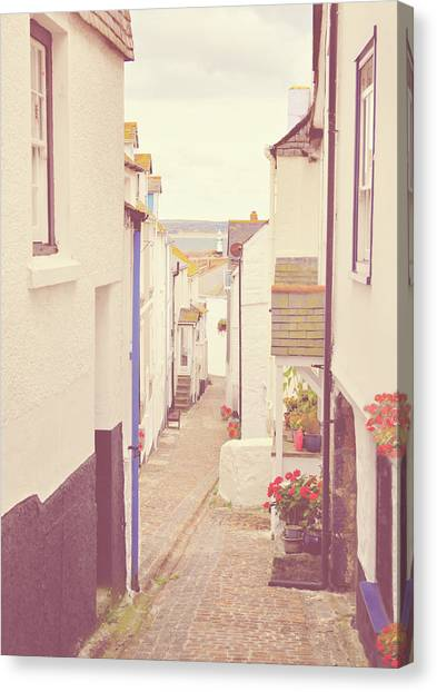 St Ives Canvas Print - Cobbled Path by Photo - Lyn Randle