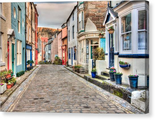 Cobbled Street Canvas Print