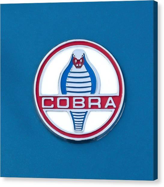 Cobras Canvas Print - Cobra Emblem by Jill Reger