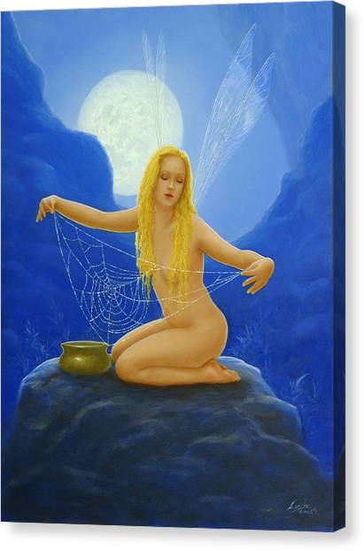 Canvas Print - Cobweb The Dew Collector by John Silver