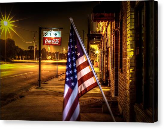 Coca-cola And America Canvas Print