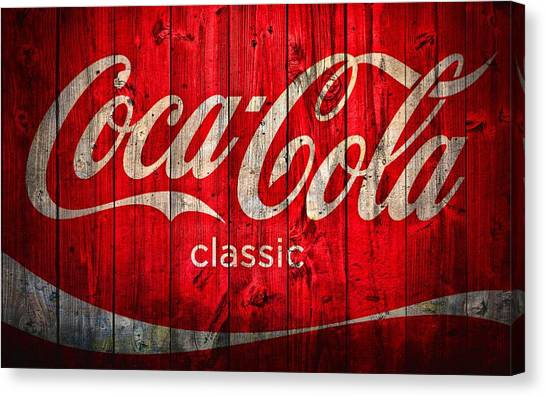 Coca Cola Canvas Print - Coca Cola Barn by Dan Sproul