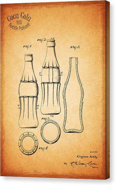 Pepsi Canvas Print - Coca Cola Bottle 1937 by Mark Rogan