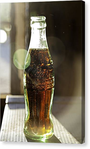Coca-cola In The Light Of Day Canvas Print