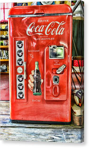 Coca Cola Canvas Print - Coca-cola Retro Style by Paul Ward
