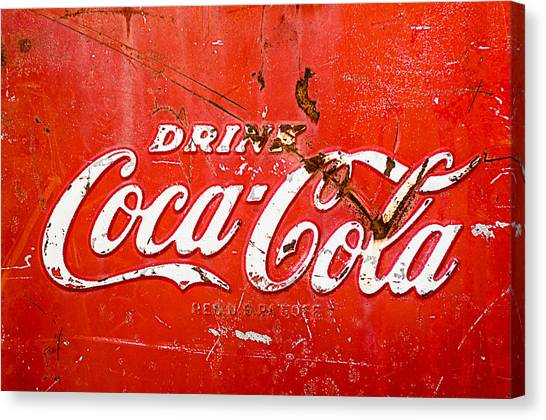Coca Cola Canvas Print - Coca-cola Sign by Jill Reger