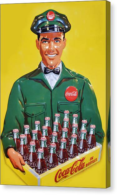 Coca Cola Vintage Canvas Print