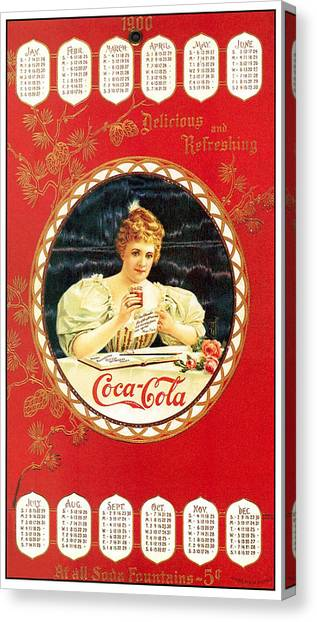 Coca - Cola Vintage Poster Calendar Canvas Print