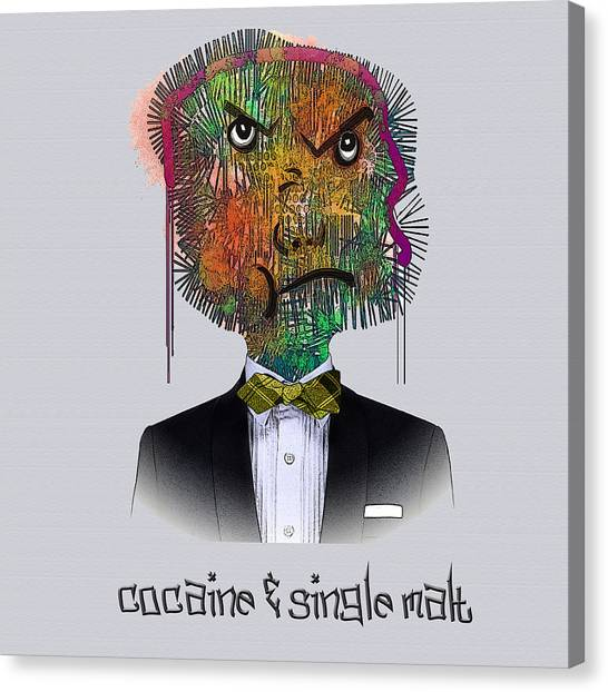 Cocaine And Single Malt Canvas Print
