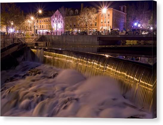 Cocheco River Falls Dover Nh Canvas Print