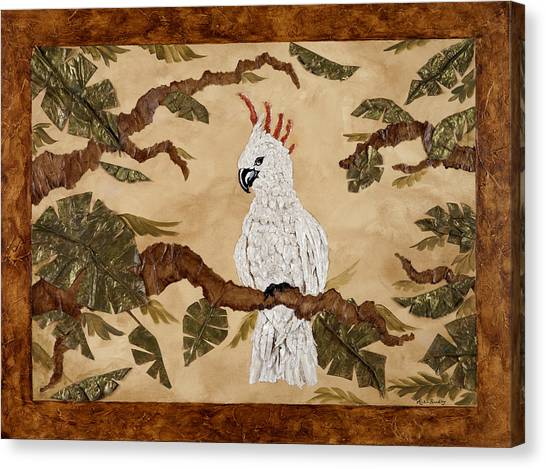 Cockatoo Out On A Limb Canvas Print by Nickie Bradley