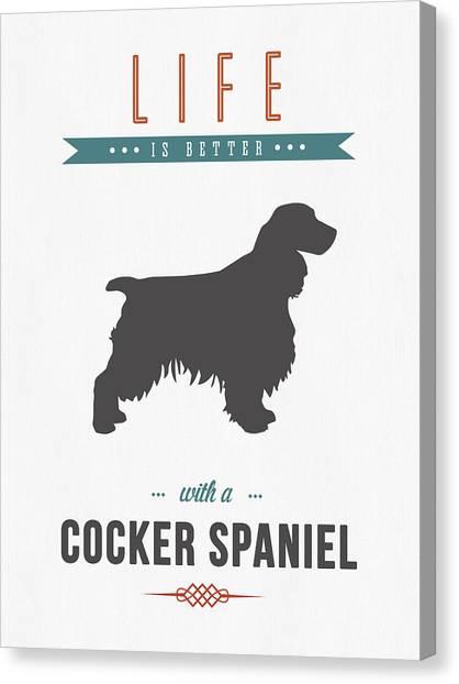 Cocker Spaniels Canvas Print - Cocker Spaniel 01 by Aged Pixel