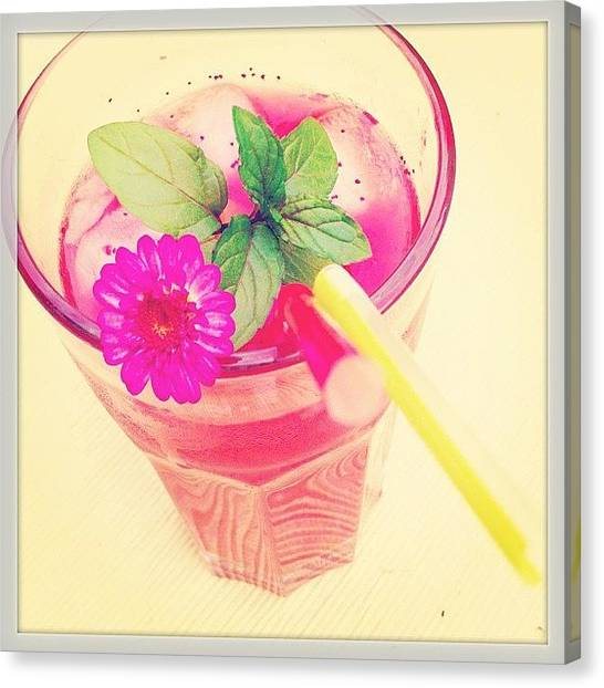 Grapefruits Canvas Print - Cocktail 'pink Daisy' #selfmade by Cy Rena