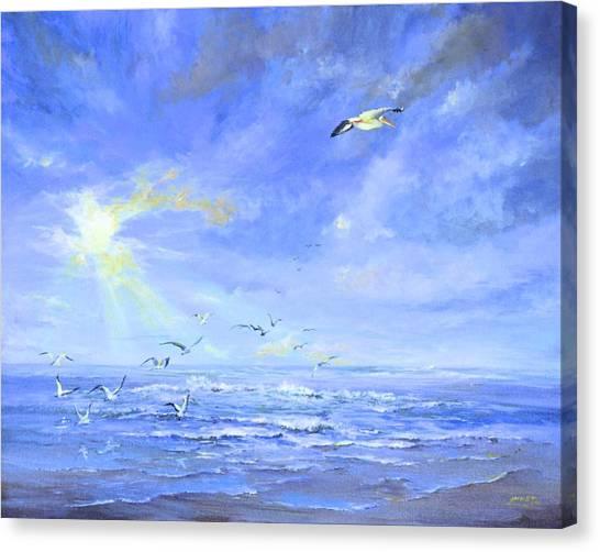 Cocoa Beach Birds Canvas Print