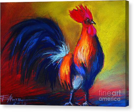 The Crown Canvas Print - Cocorico Coq Gaulois by Mona Edulesco