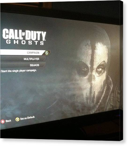 Xbox Canvas Print - Cod Ghosts Early Anyone? #cod by Ben Gross