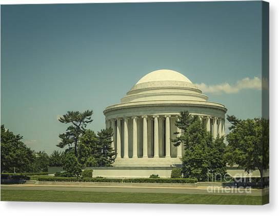 Jefferson Memorial Canvas Print - Code Of Honor by Evelina Kremsdorf