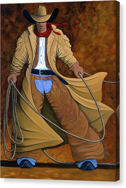 Contemporary Cowboy Art Canvas Print - Cody by Lance Headlee