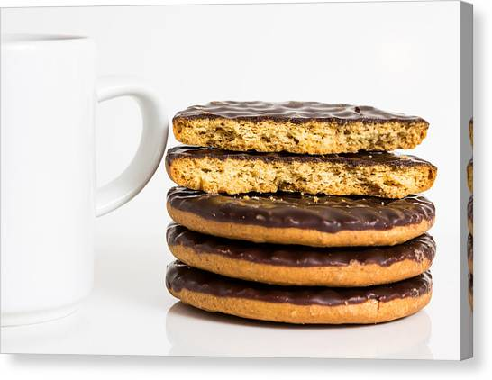 Coffee And Cookies. Canvas Print by Gary Gillette
