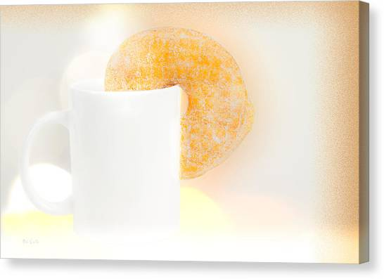 Doughnuts Canvas Print - Coffee And Donuts Two by Bob Orsillo