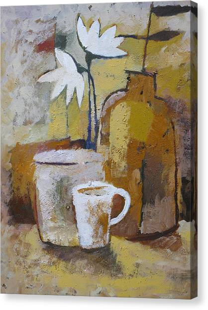 Coffee And Flowers Canvas Print