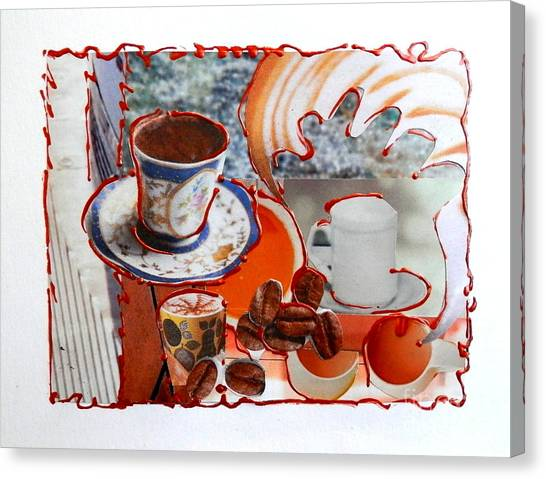 Coffee And Lunch Canvas Print