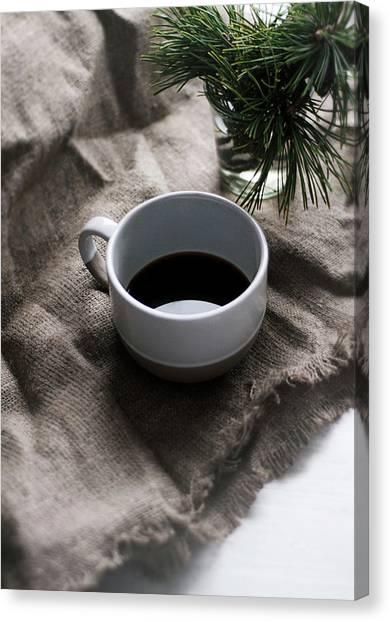 Branch Canvas Print - Coffee And Pine by Matilda K?llman
