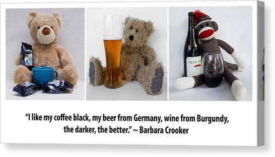 Coffee Beer And Wine 2 Canvas Print by William Patrick