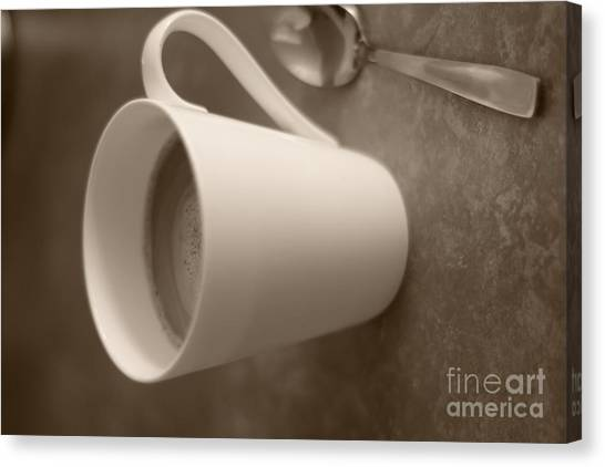 Coffee Cup Canvas Print by Bobby Mandal