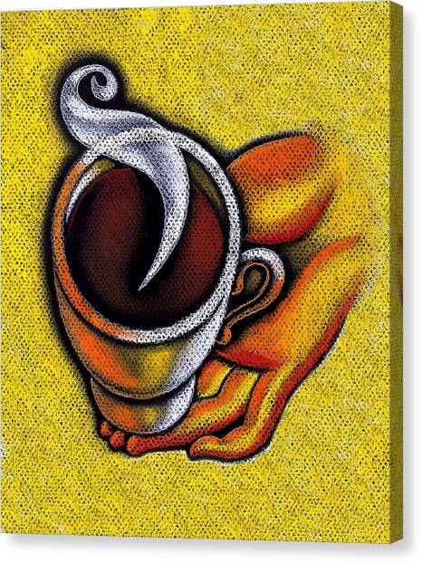 Tea Time Canvas Print - Coffee Cup  by Leon Zernitsky